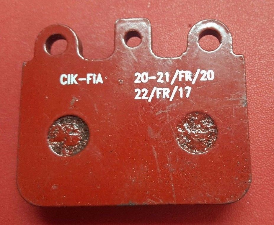 KZ REAR BRAKE PADS IN RED FITS CRG ENERGY GOLD MA20