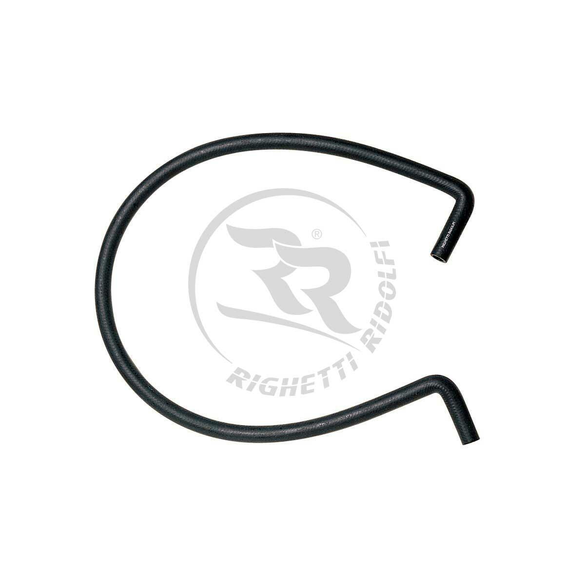 RUBBER PIPE 90° - LENGTH 1200mm - BLACK COLOUR
