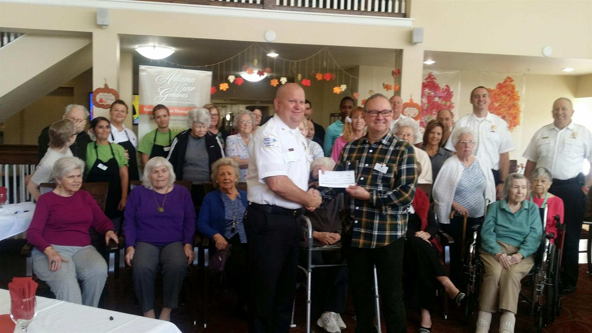 Autumn View Gardens Supports Local Fire Program