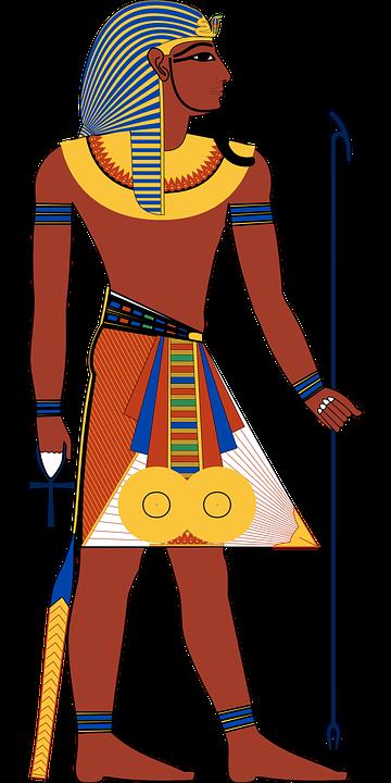 ancient Egyptian Pharaoh figure