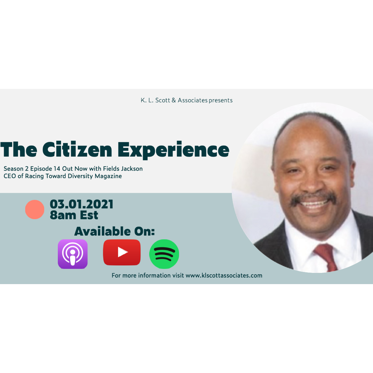 Podcast with Fields Jackson, Jr., CEO of Racing Towards Diversity Magazine