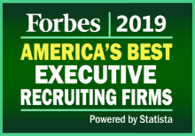 Forbes 2019 - America's best executive recruiting firms banner