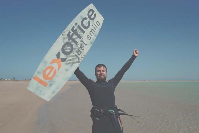 Foto Kite-Surfen beim Super StartUp Adventure Camp Dahab
