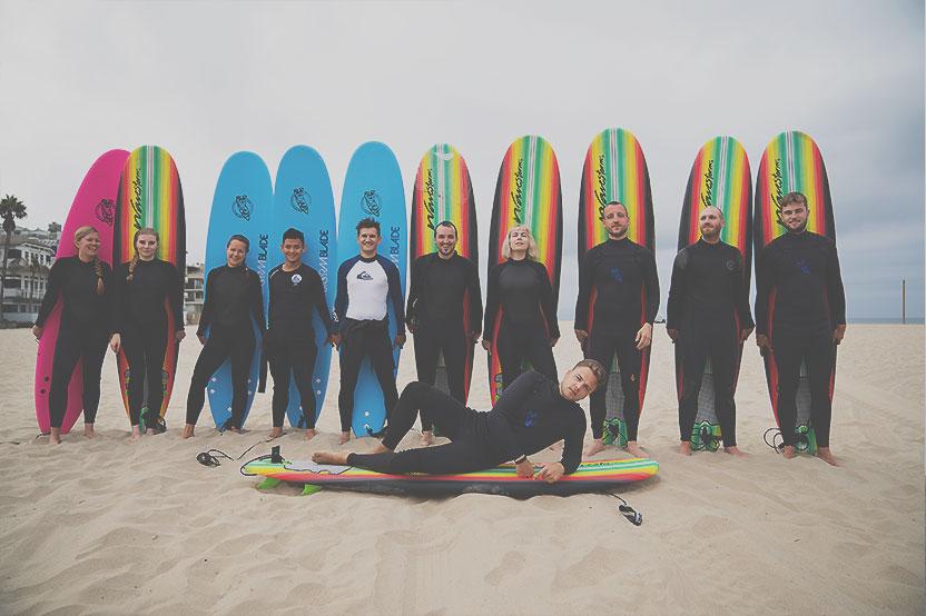 Foto Surfen Teilnehmer Super StartUp Adventure Camp Venice Beach