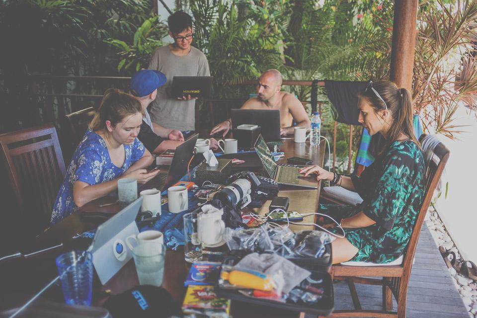 Foto Teilnehmer Super StartUp Adventure Camp Bali beim Coworking
