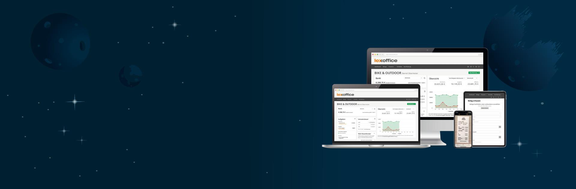 Illustration Abbildung der lexoffice Screens