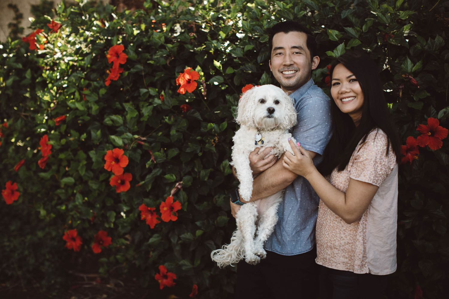 Photo of Dr. & Mrs. Nishimura and their dog