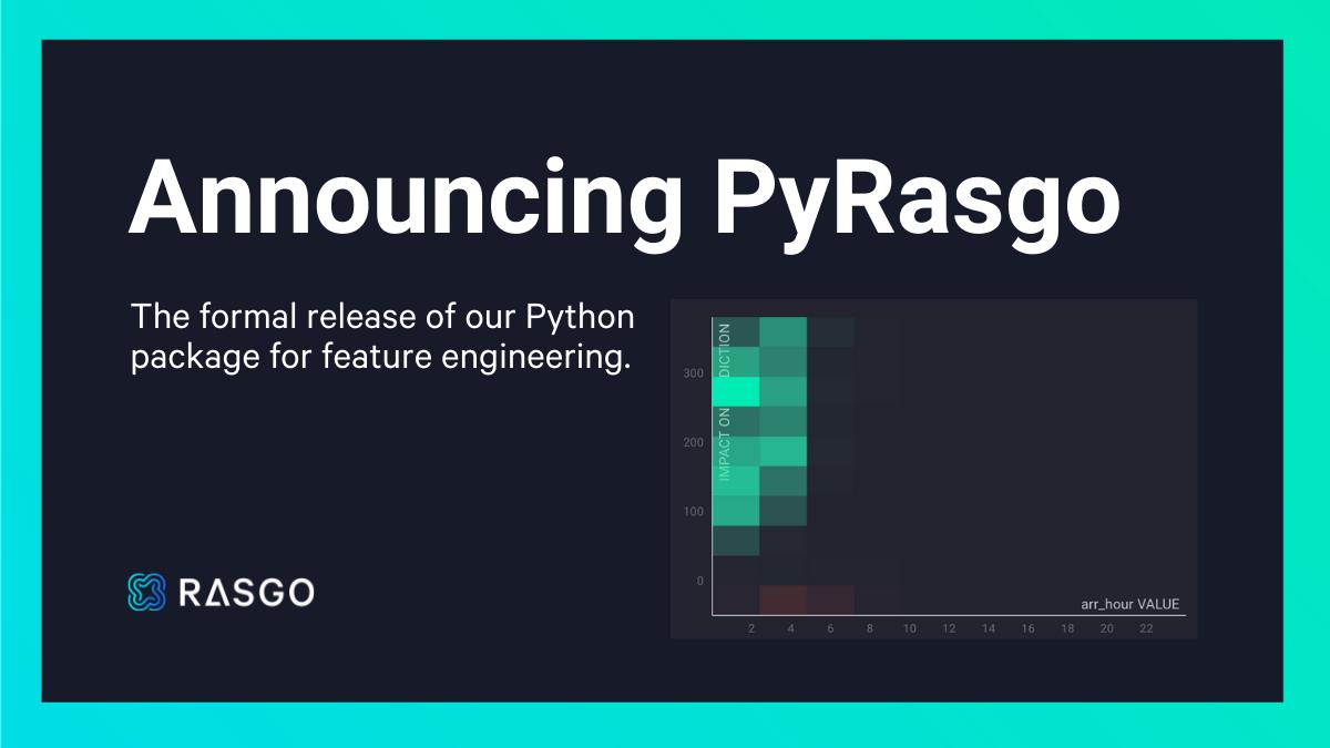 Announcing PyRasgo