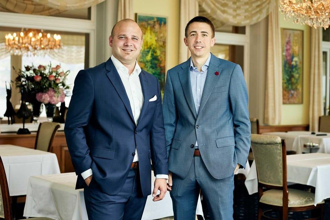 Bruno Affentranger und David Romanato, Gastgeber Belvédère Strandhotel Spiez