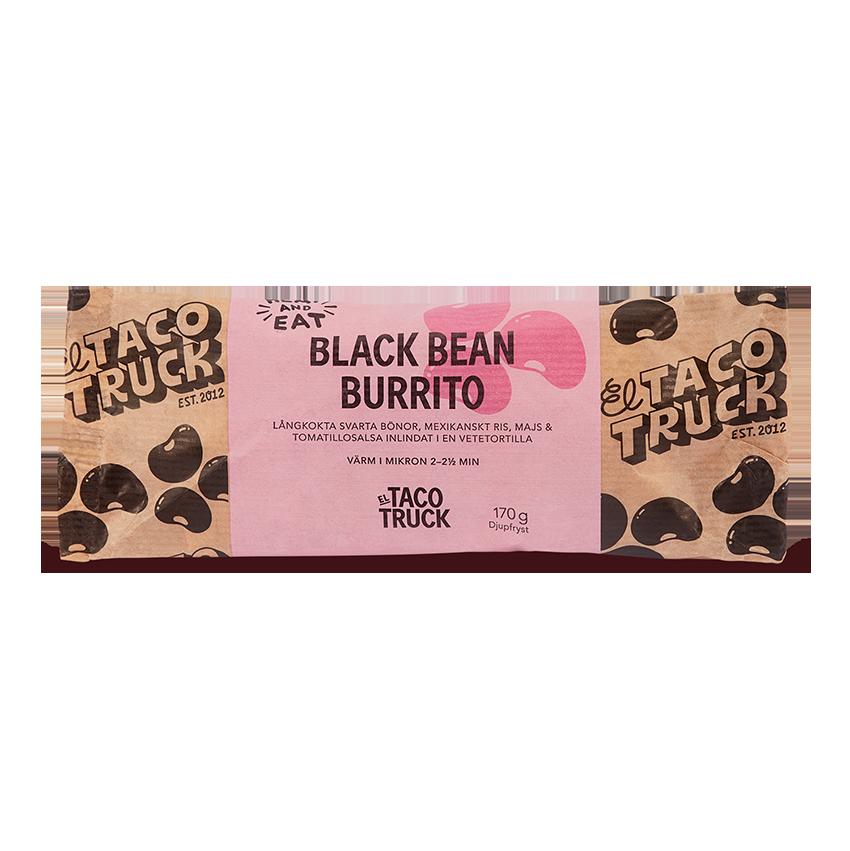 Black Bean Burrito från El Taco Truck