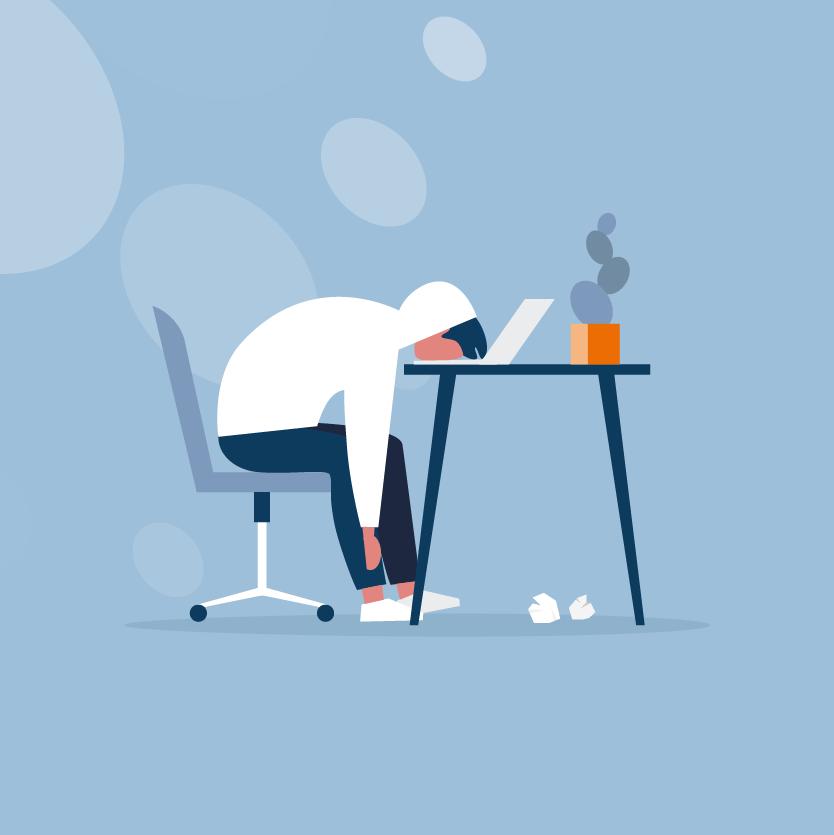 Futloos op het werk, verkeerde werkplek