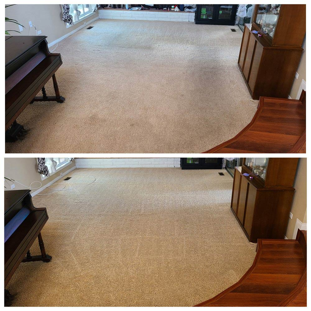 Carpet cleaning before and after in San Diego, CA
