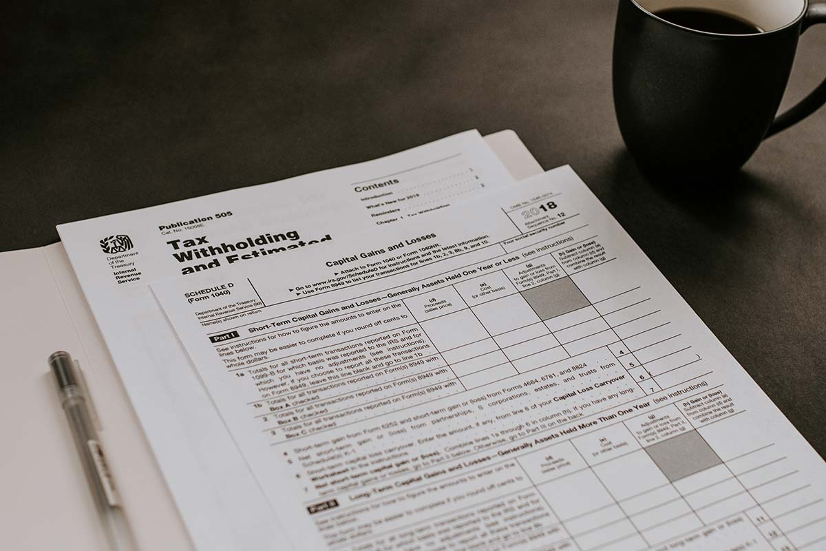 Image of a Tax form laying on a table