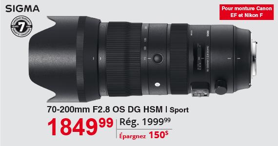 Sigma 70-200mm F2.8 OS DG HSM
