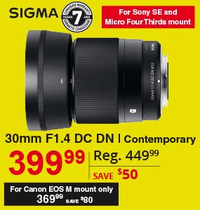 Sigma 30mm F1.4 DC DN
