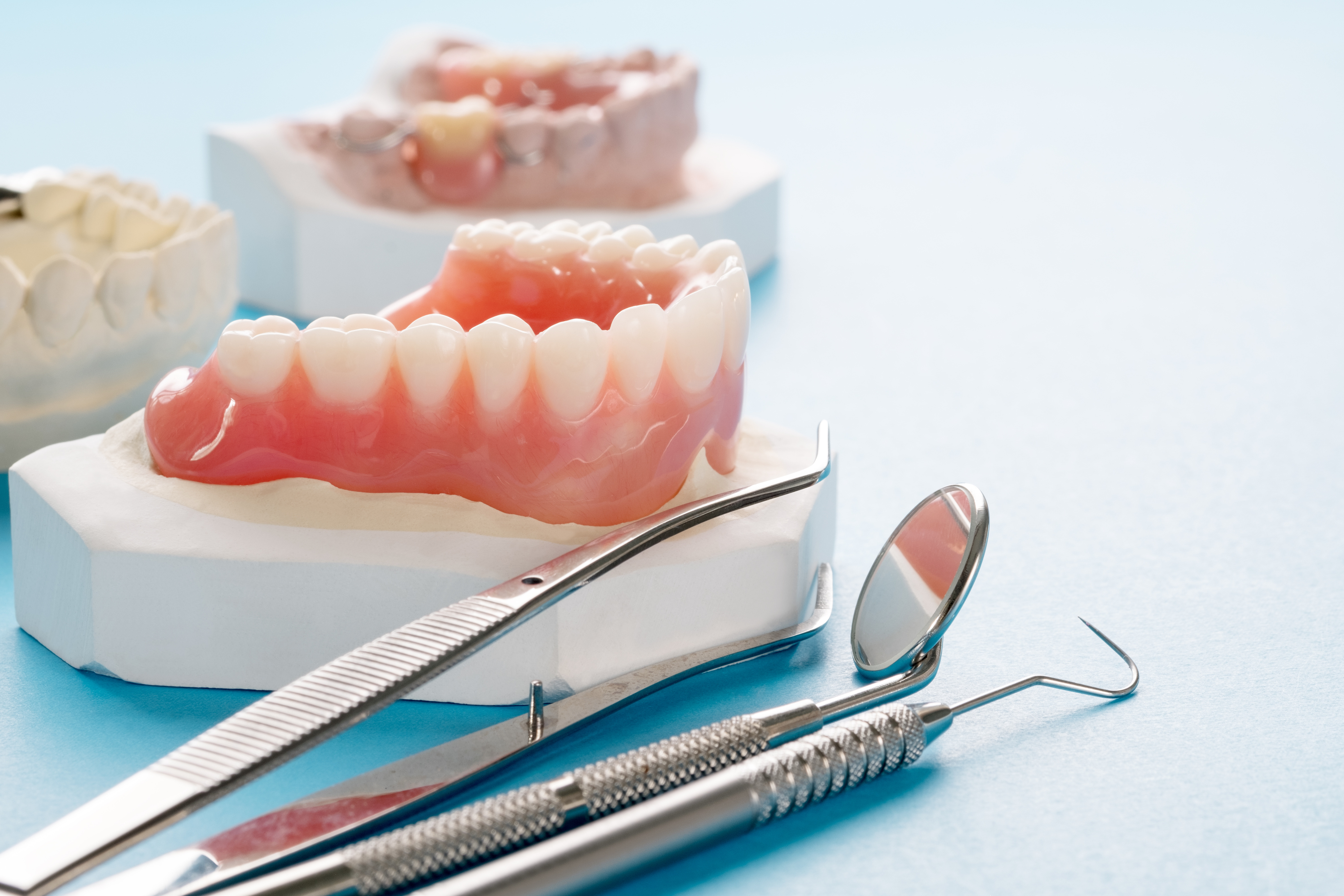 dentures with tools