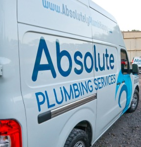 Absolute Plumbing Services, your trusted plumber since 2008.