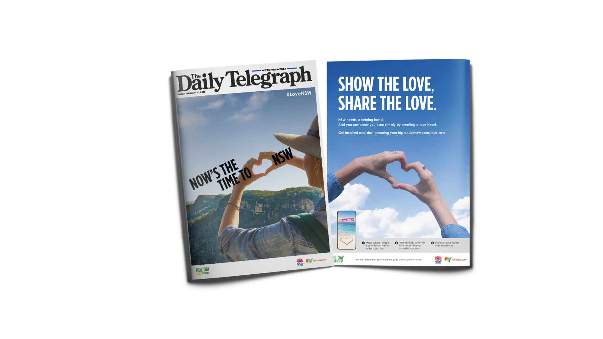 Visit NSW spread in The Daily Telegraph