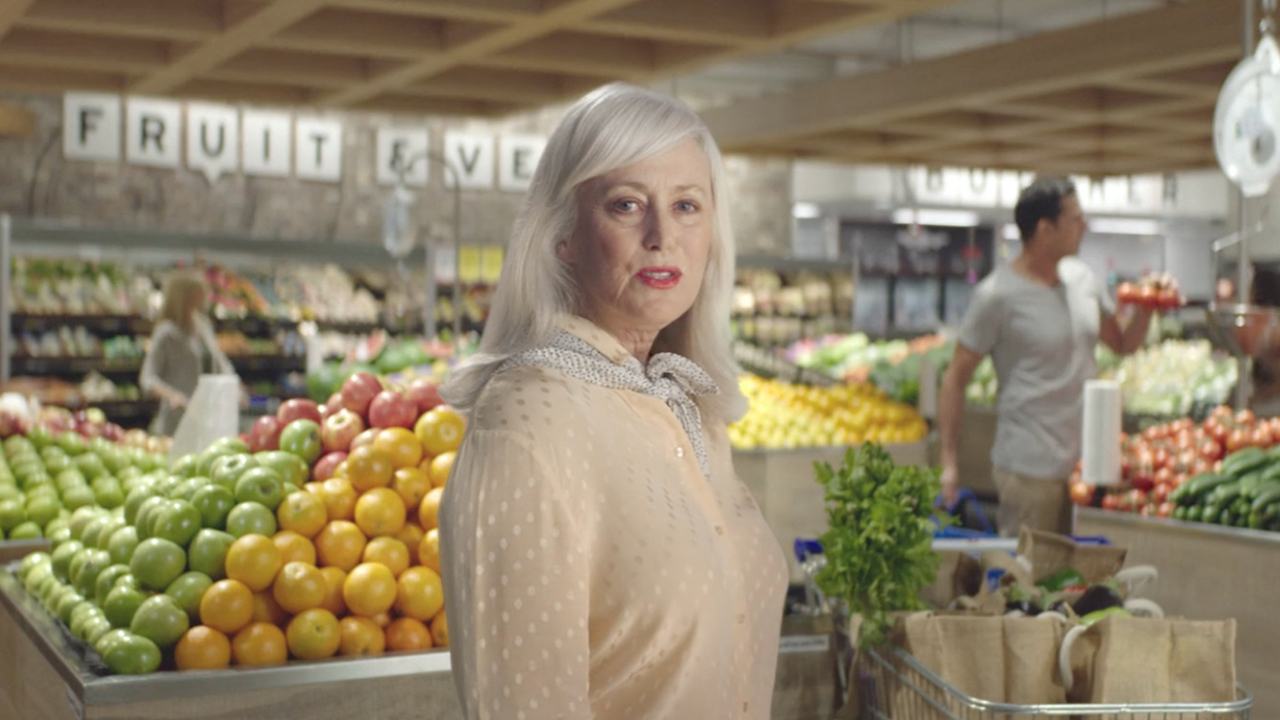 AMGEN Hero Image of women in Supermarket
