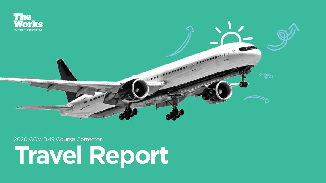 Cover of the travel white paper featuring an airplane taking off.