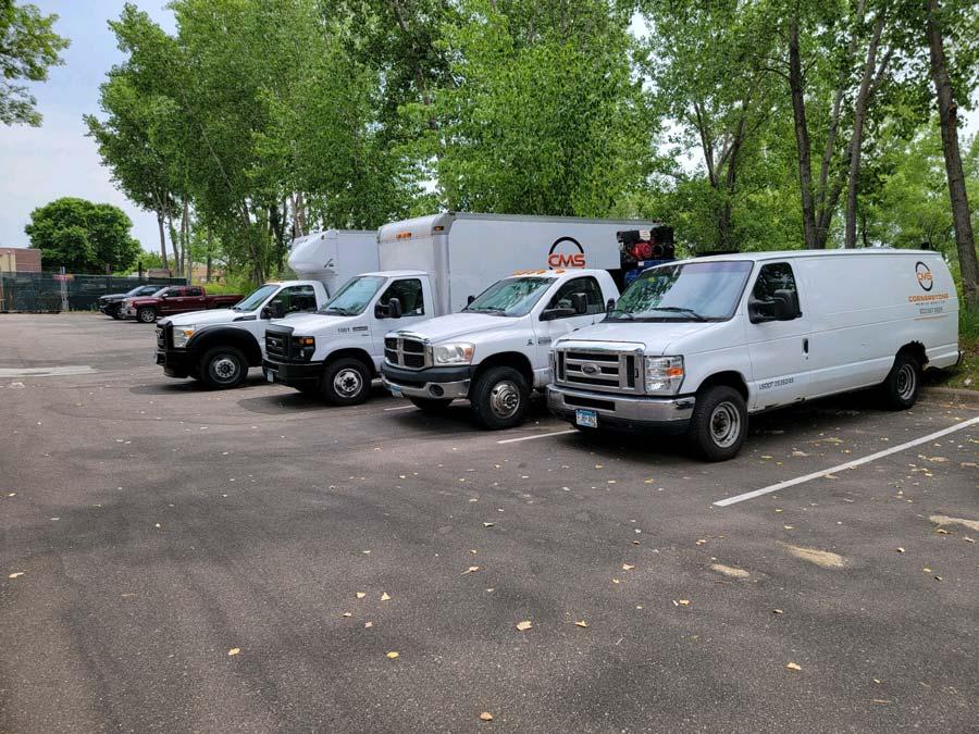 Cornerstone mobile fleet of trucks