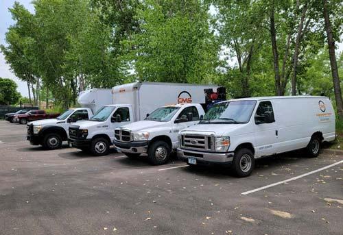 Cornerstone fleet of truck service vehicles