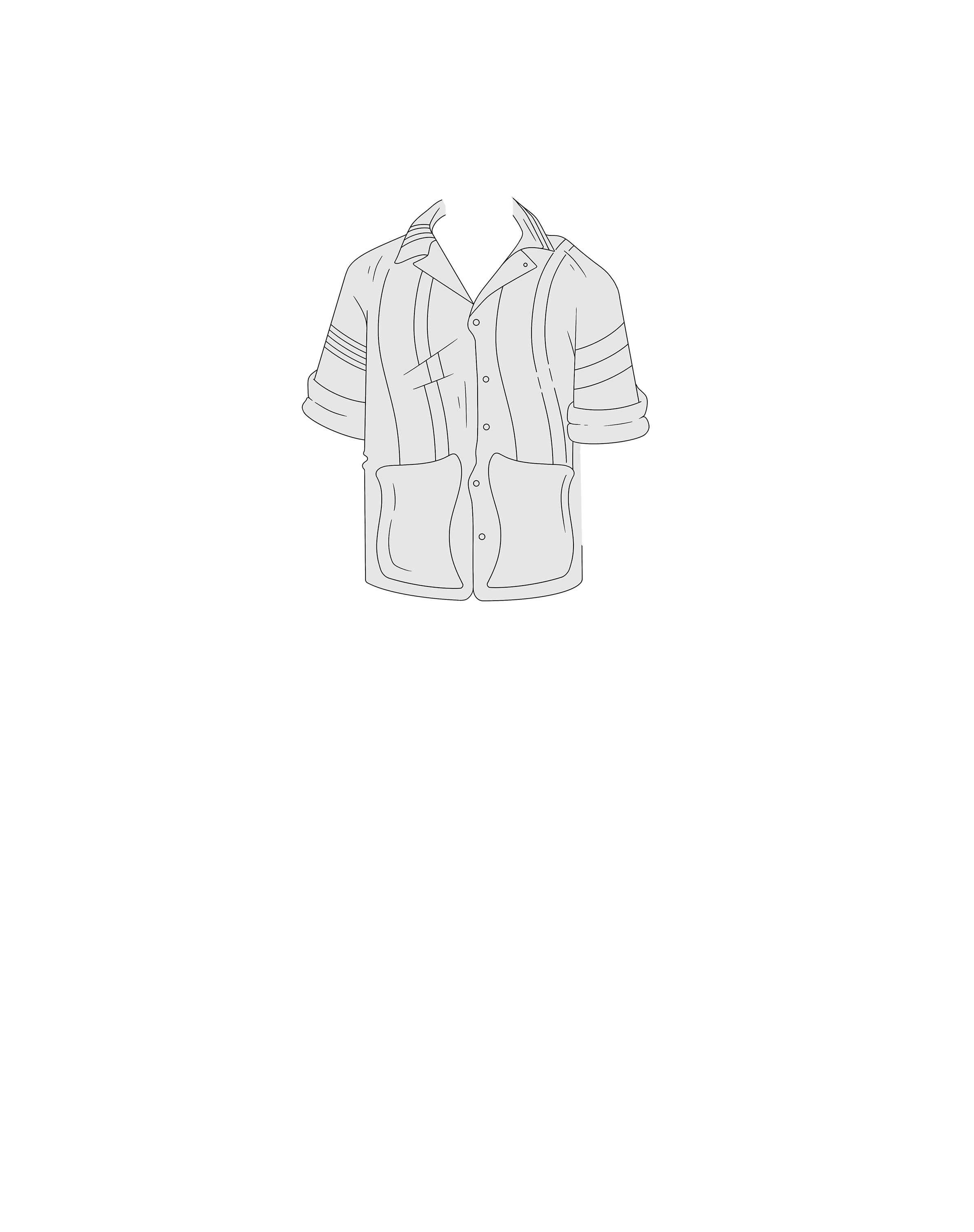 Collared shirt illustration