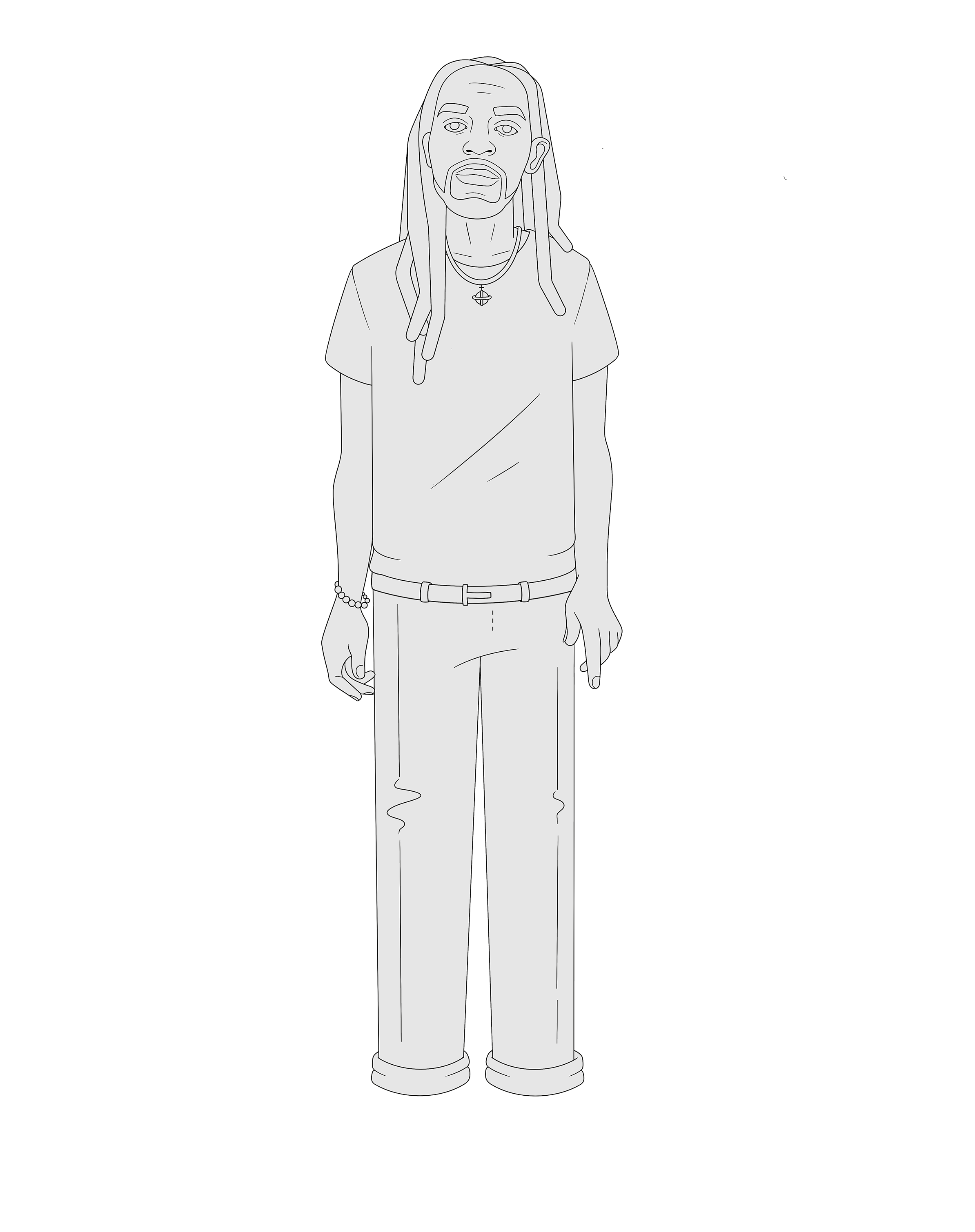 Erick The Architect full body illustration