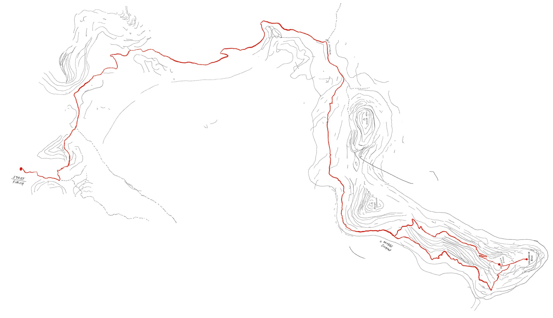 Mud map of Mt Dingo