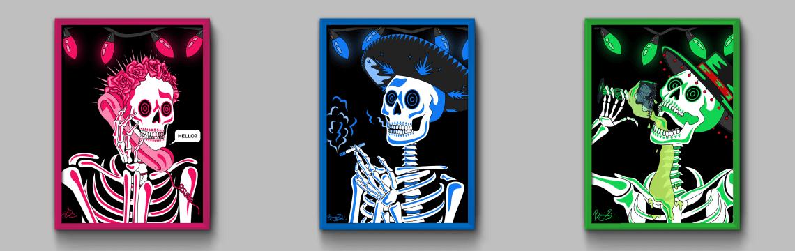 Neon Skeleton Series