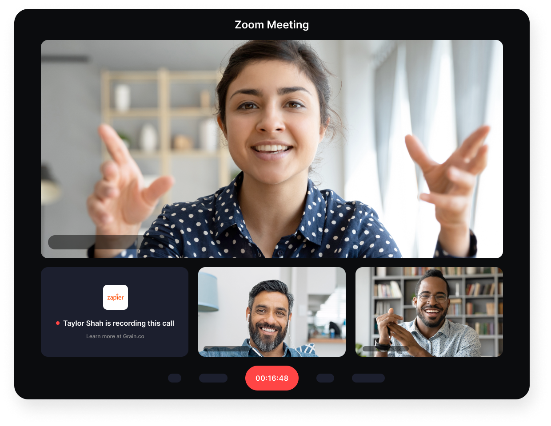 Grain recorder is present in Zoom meetings