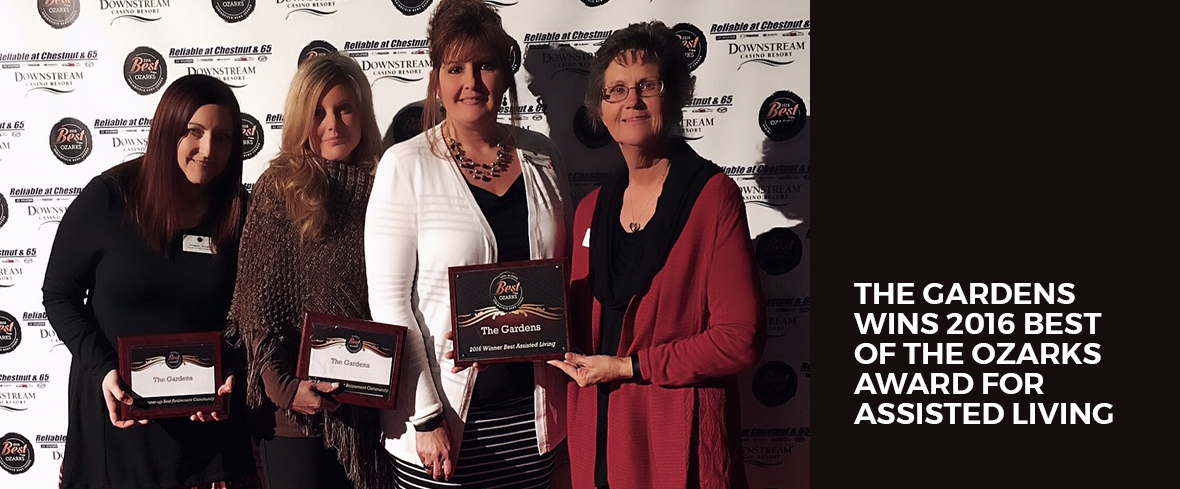 The Gardens Wins 2016 Best of the Ozarks Award for Assisted Living