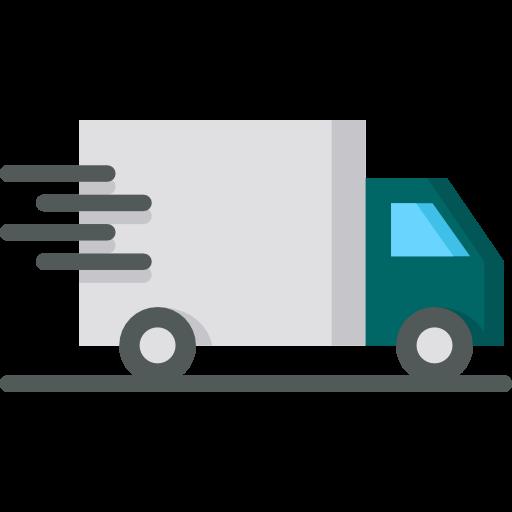 Lastwagen der etwas liefert