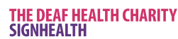 The Deaf health charity sign Health Logo
