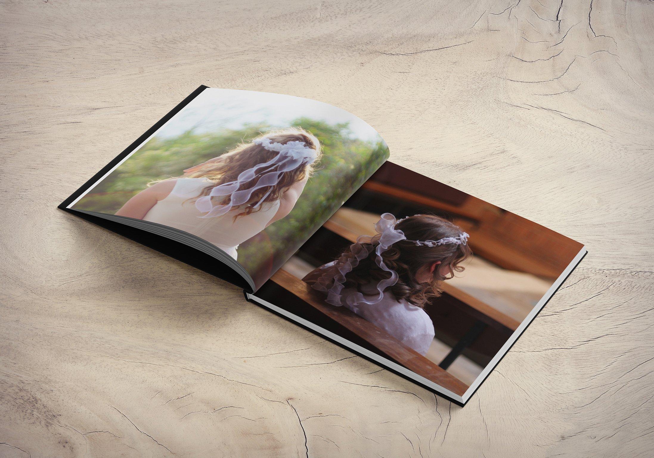 Hardcover Photo Book Open Alt