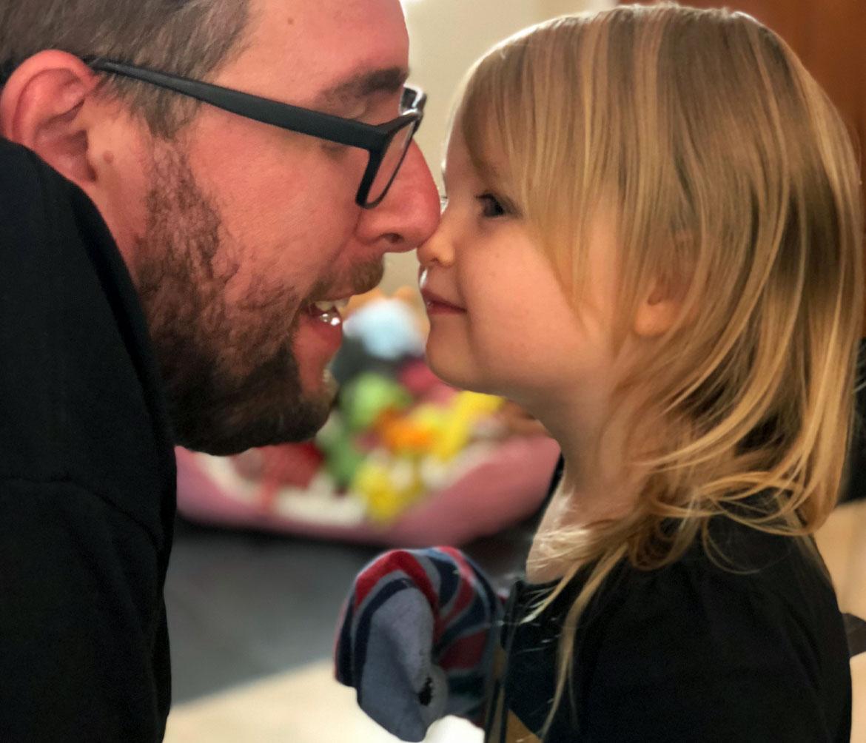 Adam Weitz with Daughter