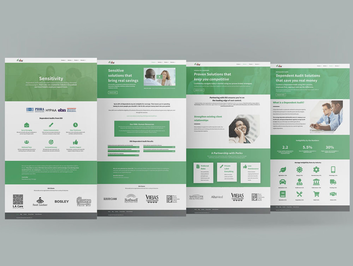 DSI 2019 Website Redesign Pages