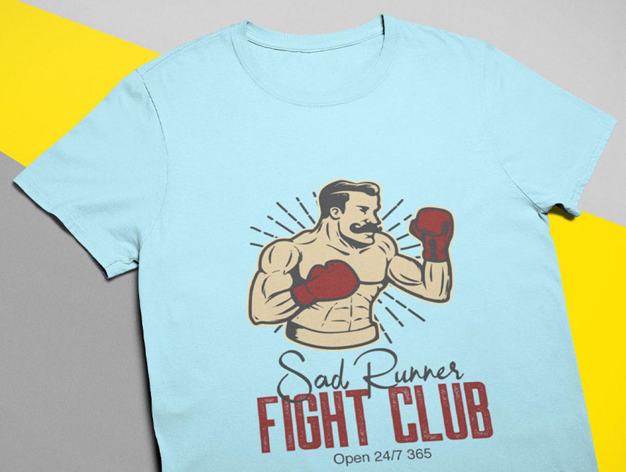 Sad Runner T-Shirt Designs