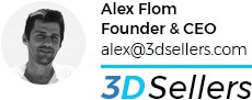 Signature of 3Dsellers founder, Alex Flom
