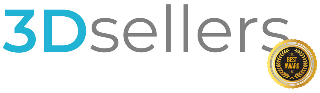 "3Dsellers logo with ""best award"" badge"