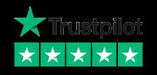 Trustpilot Reviews Logo with 5 Green Stars.