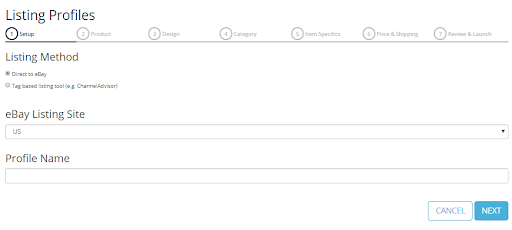 Screenshot of Frootion's Listing Profiles feature.