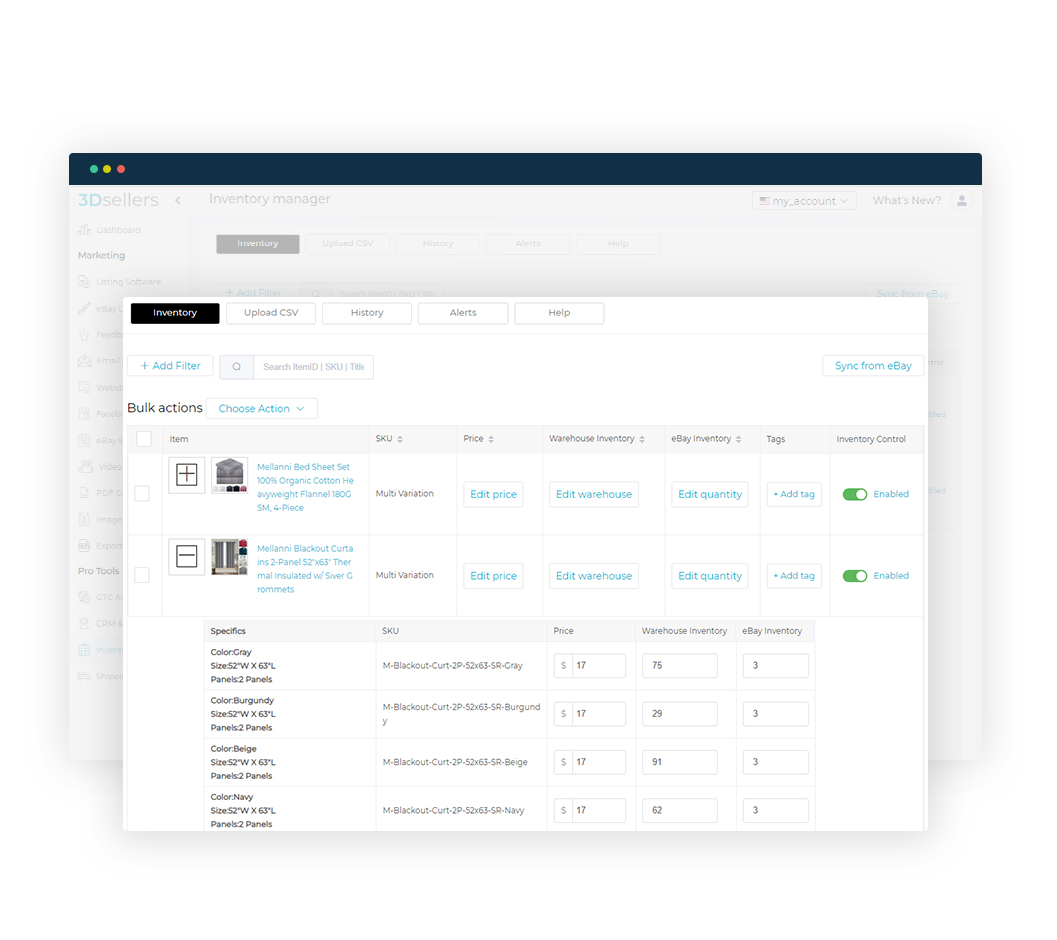ebay inventory management