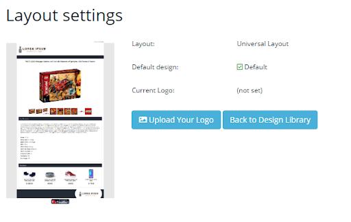Screenshot of Frooition eBay listing designer templates editor.