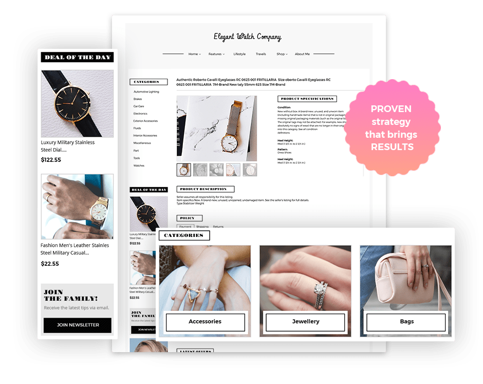 Preview of an eBay Listing Designer template from 3Dsellers