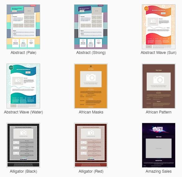 ऑक्टिवा ईबे लिस्टिंग डिजाइन टेम्पलेट्स