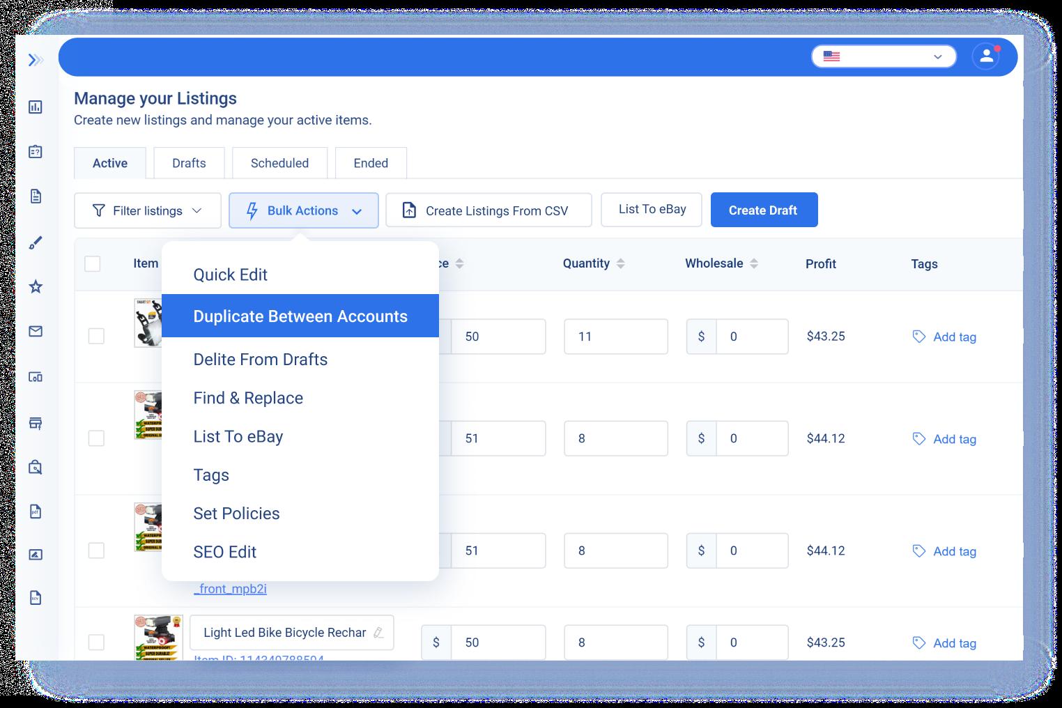 Copy Listings Between Accounts