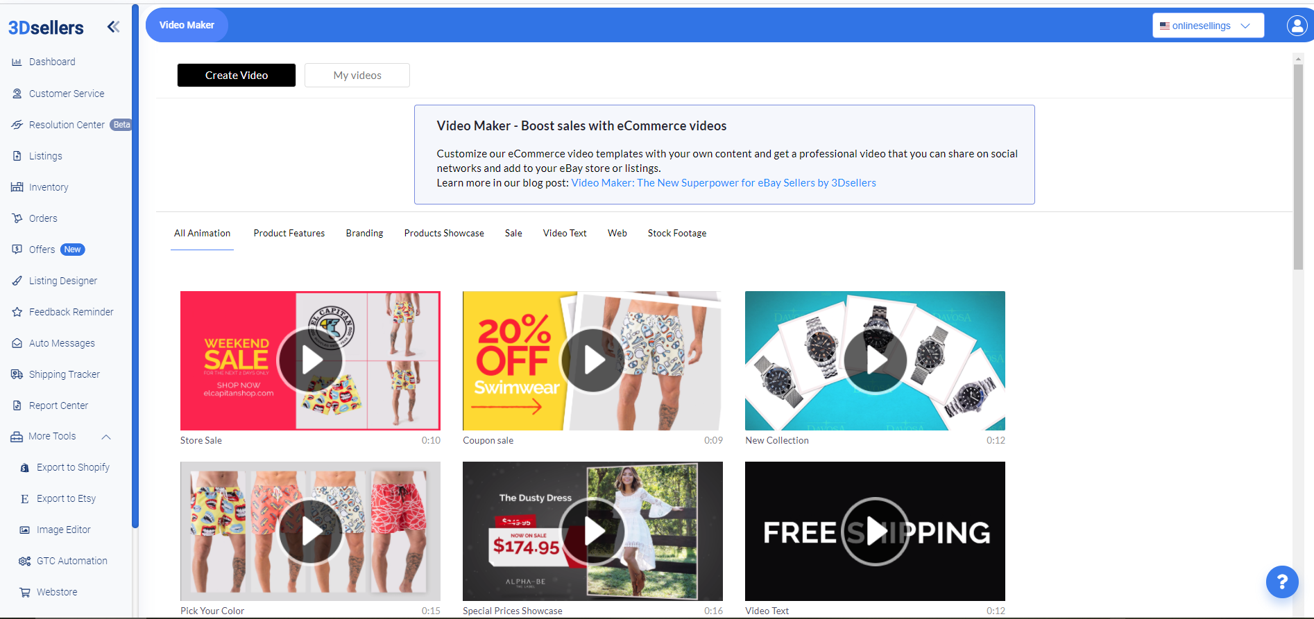 All your eCommerce channels in one place