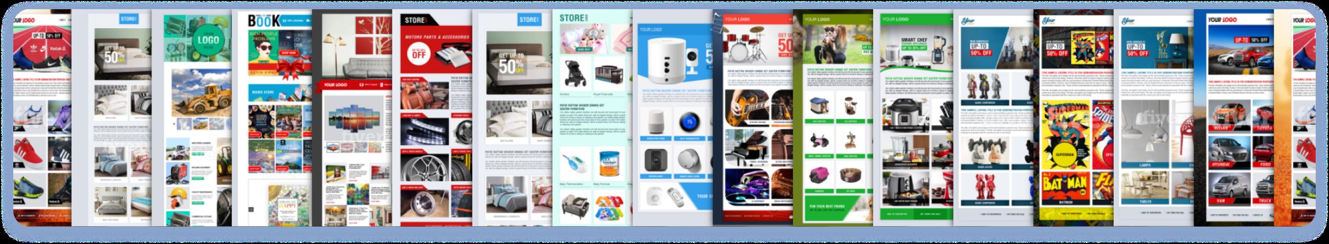 Showcase of many eBay Listing Designer templates built by eBay sellers.