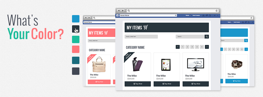 Pick Your eBay Facebook Store color